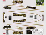 Kawasaki GPZ 900 R 89-90, Kit déco sticker