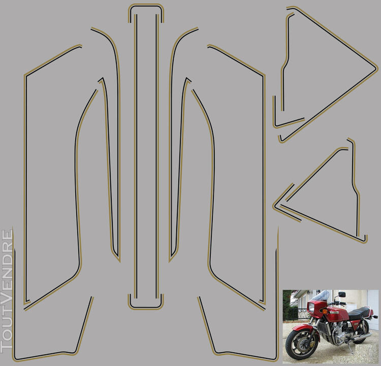 Kawasaki Z 1300 Kit déco, stickers 622696690