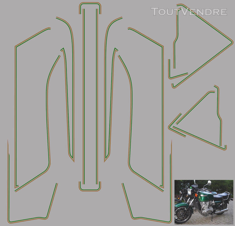 Kawasaki Z 1300 Kit déco, stickers 622696756