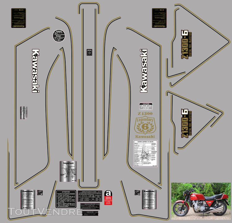 Kawasaki Z 1300 Kit déco, stickers 626119894