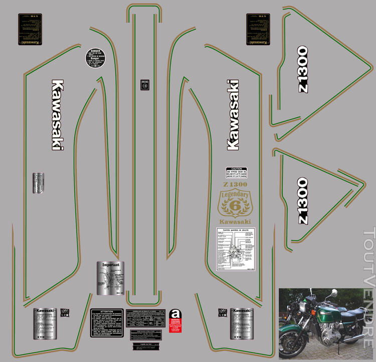 Kawasaki Z 1300 Kit déco, stickers 626119897