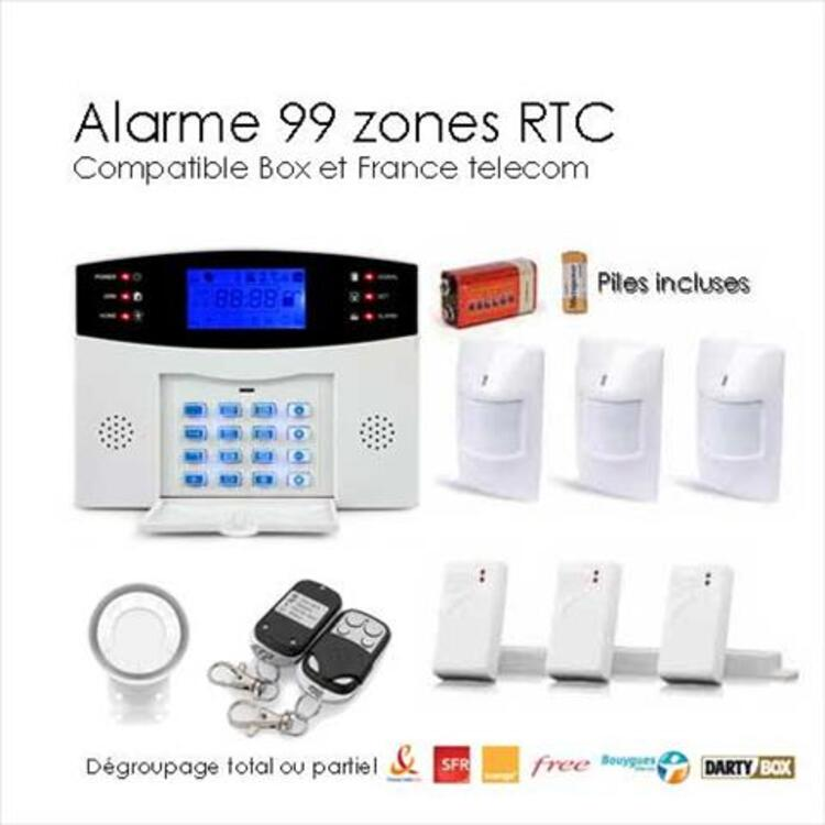 Kit alarme de maison, 99 zones large box 95642784