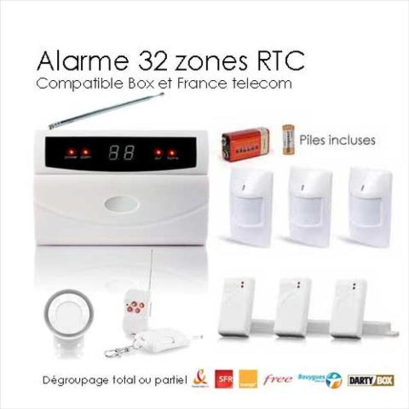 Kit alarme sans fil 32 zones large box 95642781