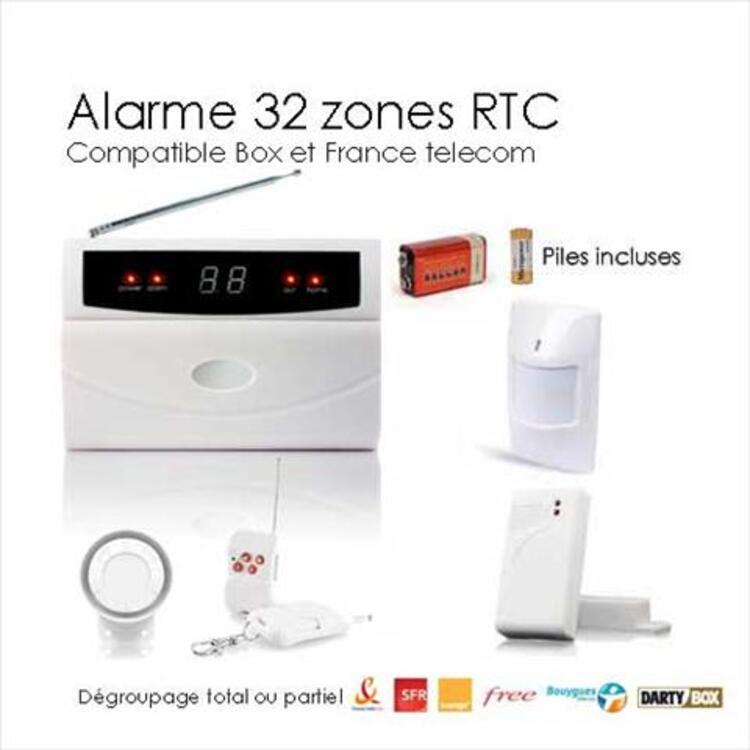 Kit alarme sans fil de maison 32 zones EASY BOX 95641013