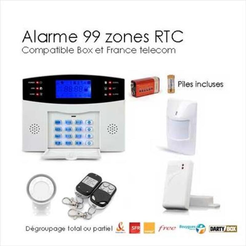 Kit alarme sans fil de maison, 99 zones EASY BOX 95641476