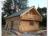 Kit chalet bois madriers Scandinave GreenLife© 96m2, 2 ch