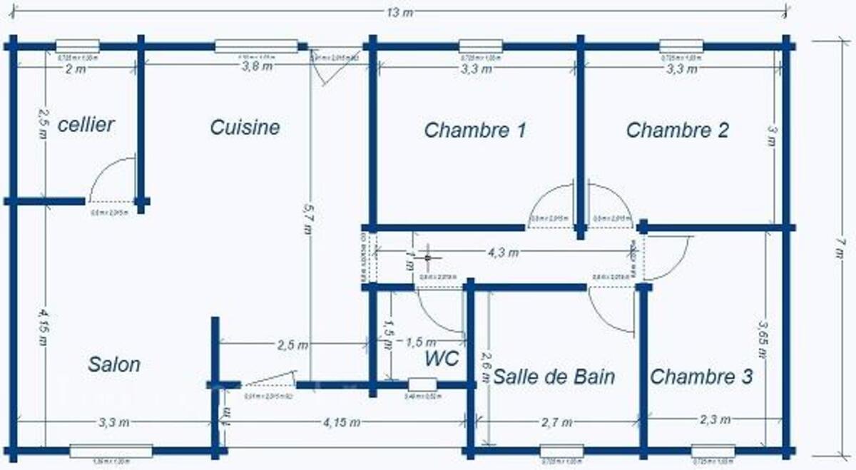 Kit chalet/maison bois Vaema GreenLife 91m2 3ch 35568786