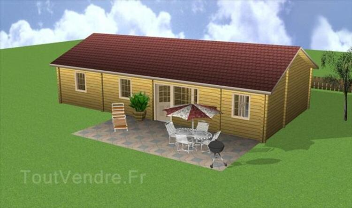 Kit chalet/maison bois Vaema GreenLife 91m2 3ch 35568787