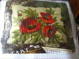 """Kit complet coussin """"les coquelicots"""", canevas,  neuf"""