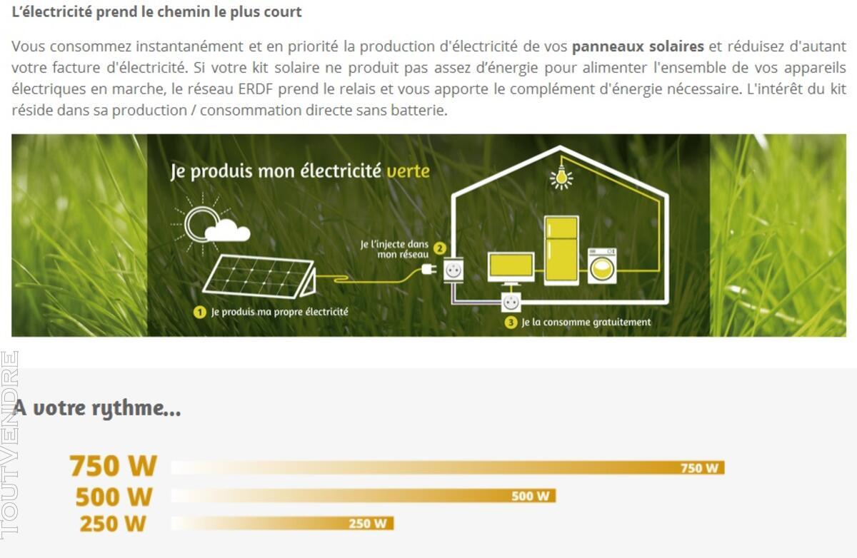 Kit solaire autoconsommation 500 w avec fixations 125274325