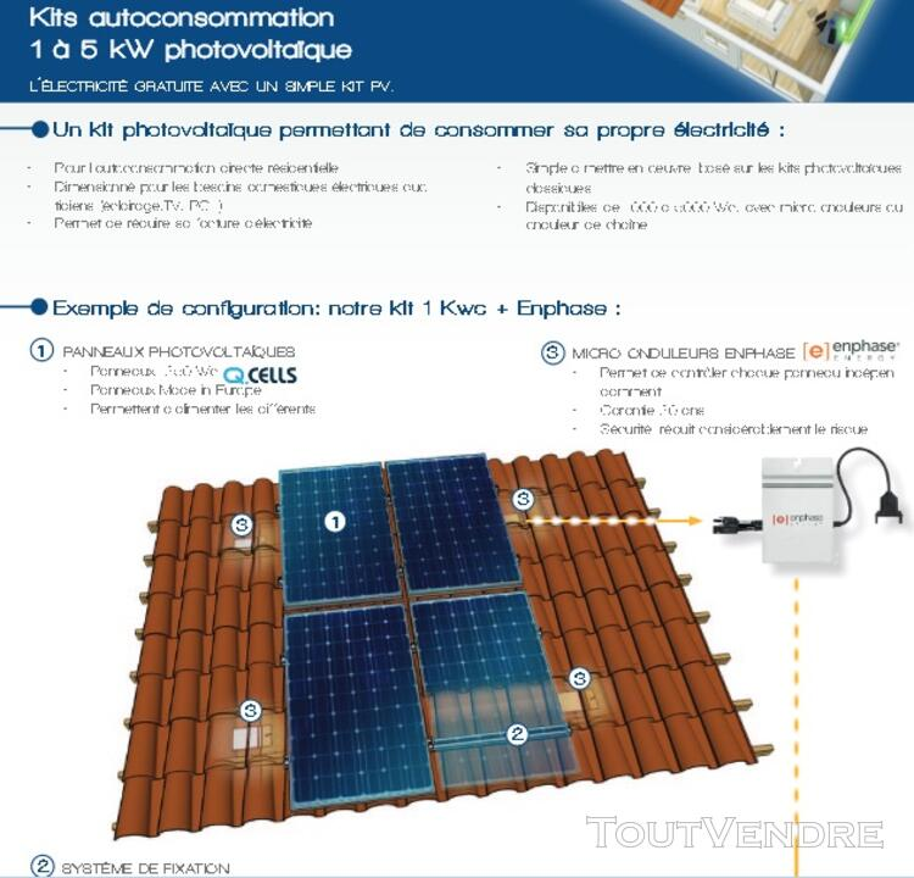 Kit solaire autoconsommation 500 w avec fixations 125274360