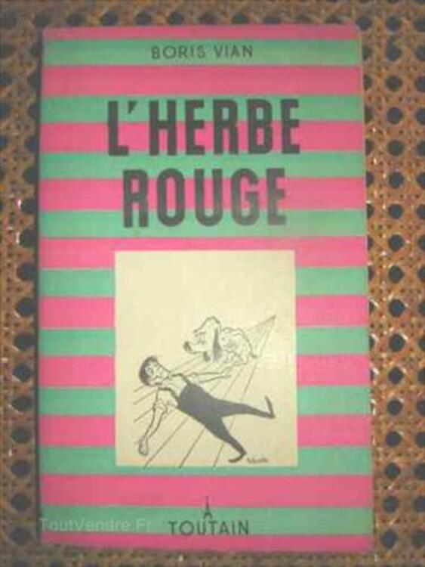 L'Herbe Rouge de Boris Vian, édition RARE 64396674
