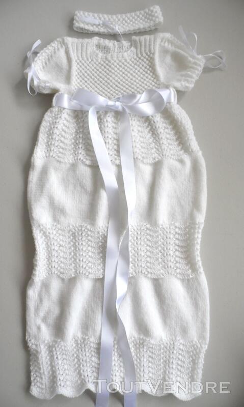 Laine bébé tricot robe de baptême fait main 124585271