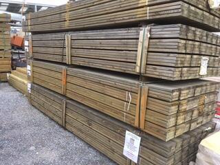 Lame de terrasse en pin autoclave classe 4 épaisseur 27 mm