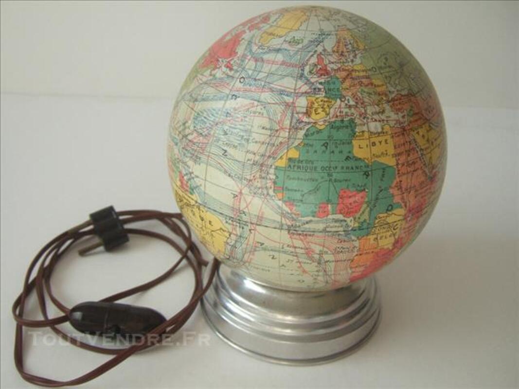 LAMPE ANCIENNE MAPPEMONDE 83869349