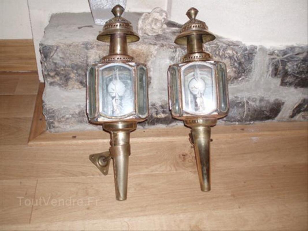 LAMPE CALECHE APPLIQUE LANTERNE LAITON GRAVE 56316105