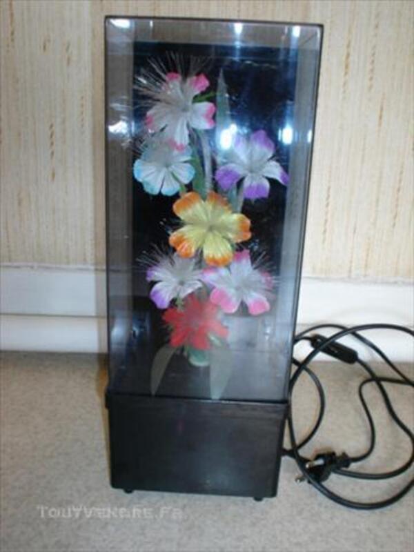 Lampe fleurs multicouleurs fibre optique 45841408