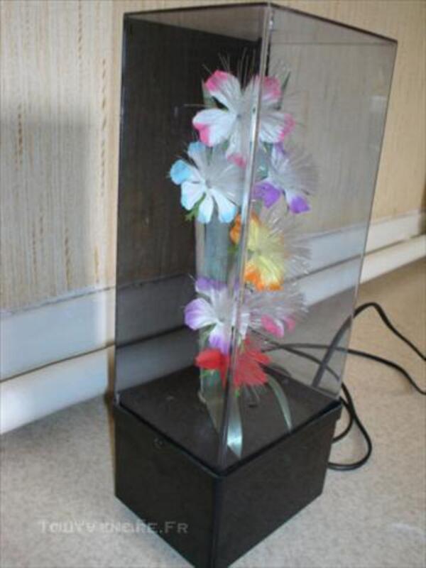 Lampe fleurs multicouleurs fibre optique 45841409