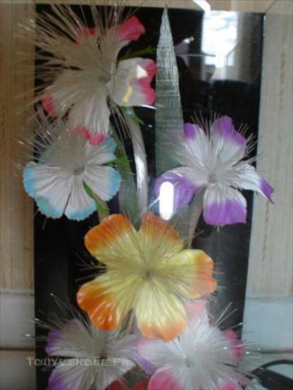 Lampe fleurs multicouleurs fibre optique 45841410