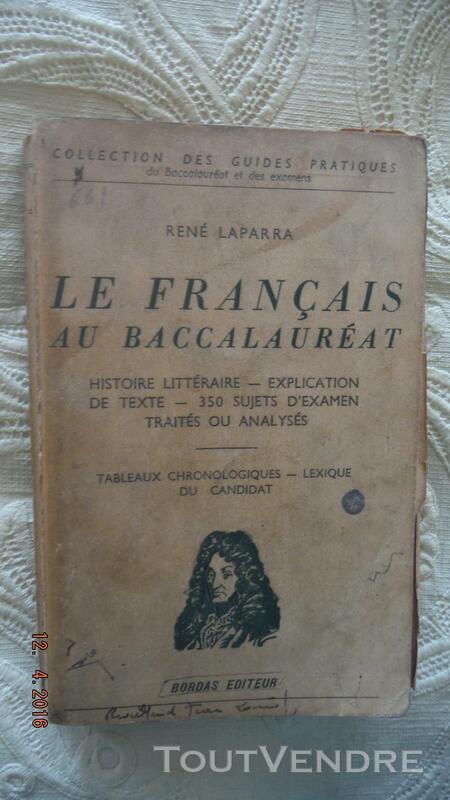 LE FRANCAIS AU BACCALAUREAT 257705897