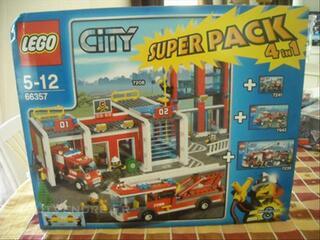 Lego city ref 33357 caserne des pompiers 4 en 1