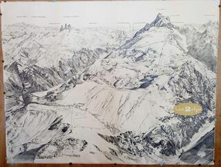 Les 2 Alpes  Plan des Pistes et  Remontées Mécaniques 1977