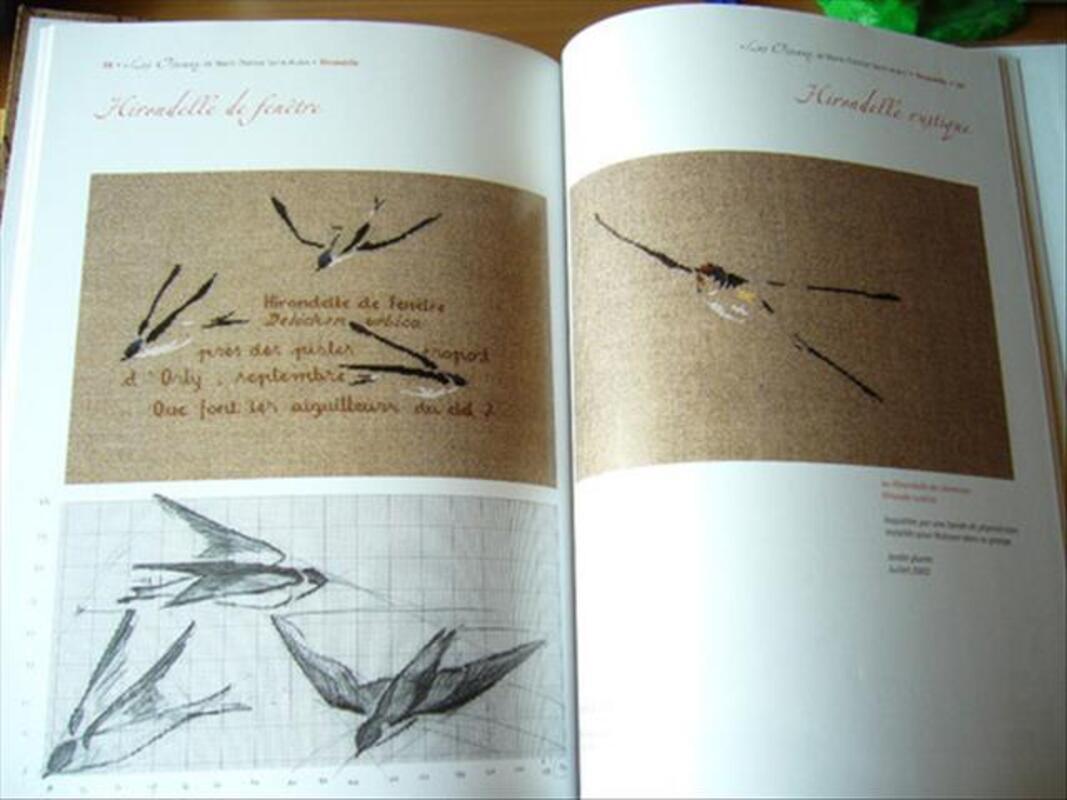 Les oiseaux de Marie-Thérèse Saint-Aubin point de croix 89166331