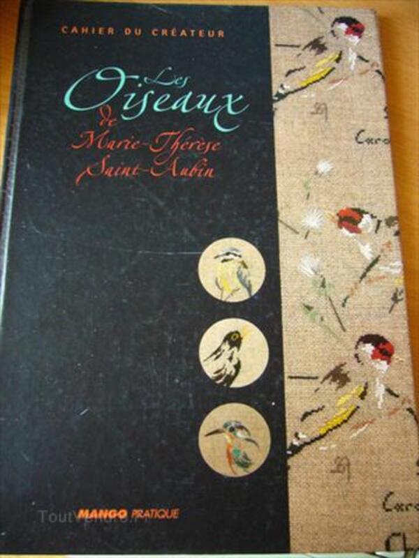 Les oiseaux de Marie-Thérèse Saint-Aubin point de croix 89166332