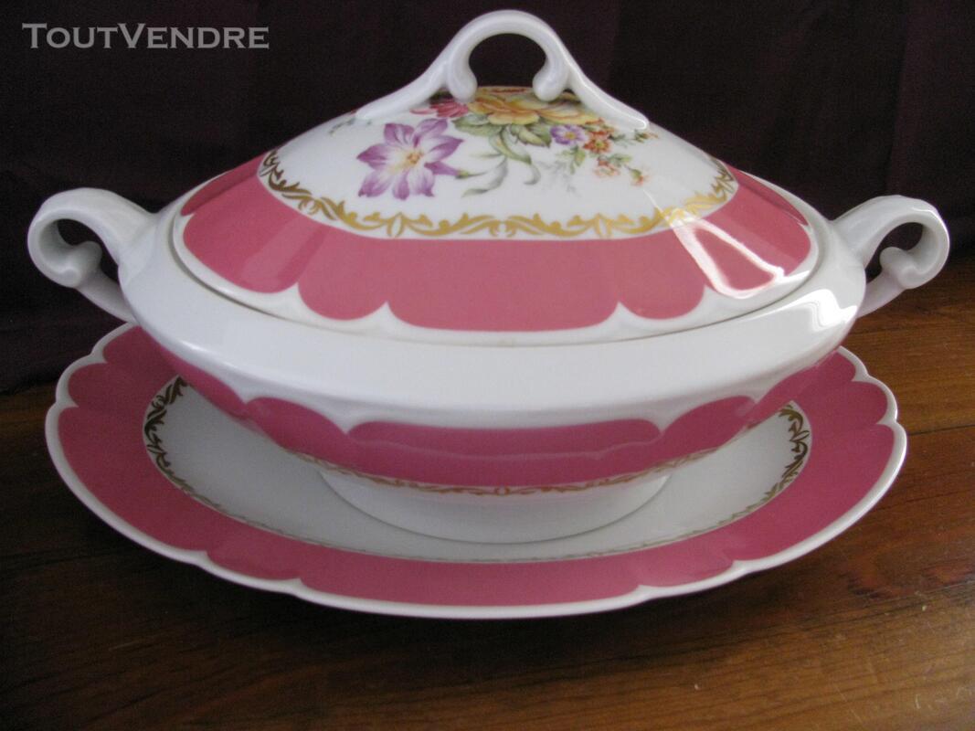 Limoges Les Maîtres Porcelainiers  Limougeaud Rose Pompadour 231128815