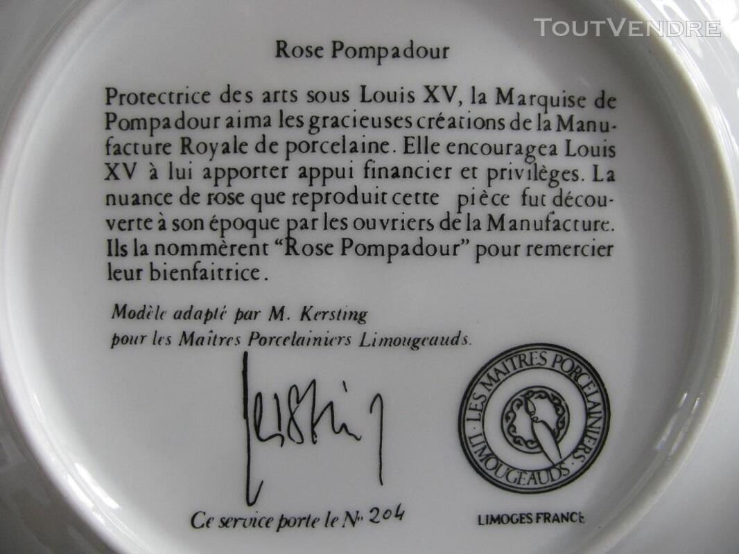 Limoges Les Maîtres Porcelainiers  Limougeaud Rose Pompadour 231128824