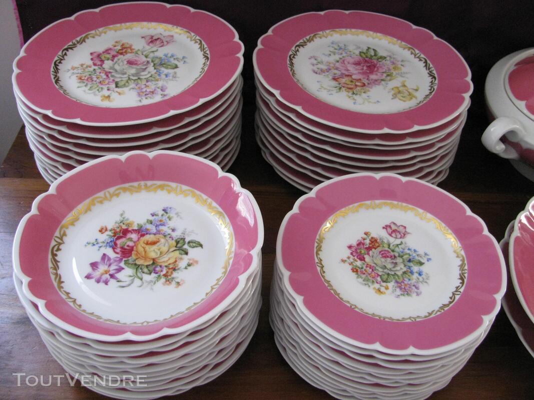 Limoges Les Maîtres Porcelainiers  Limougeaud Rose Pompadour 231128830