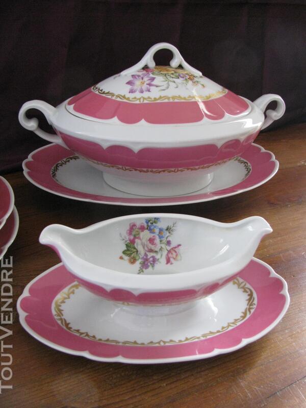 Limoges Les Maîtres Porcelainiers  Limougeaud Rose Pompadour 231128833
