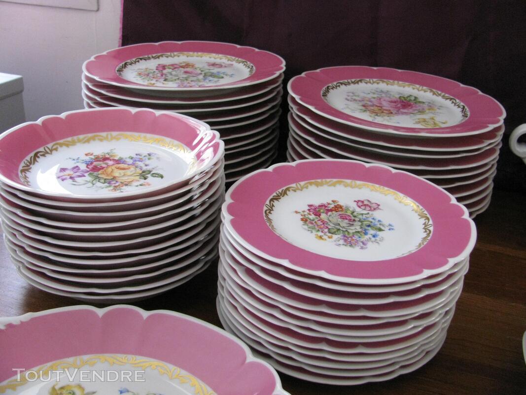 Limoges Les Maîtres Porcelainiers  Limougeaud Rose Pompadour 231128851