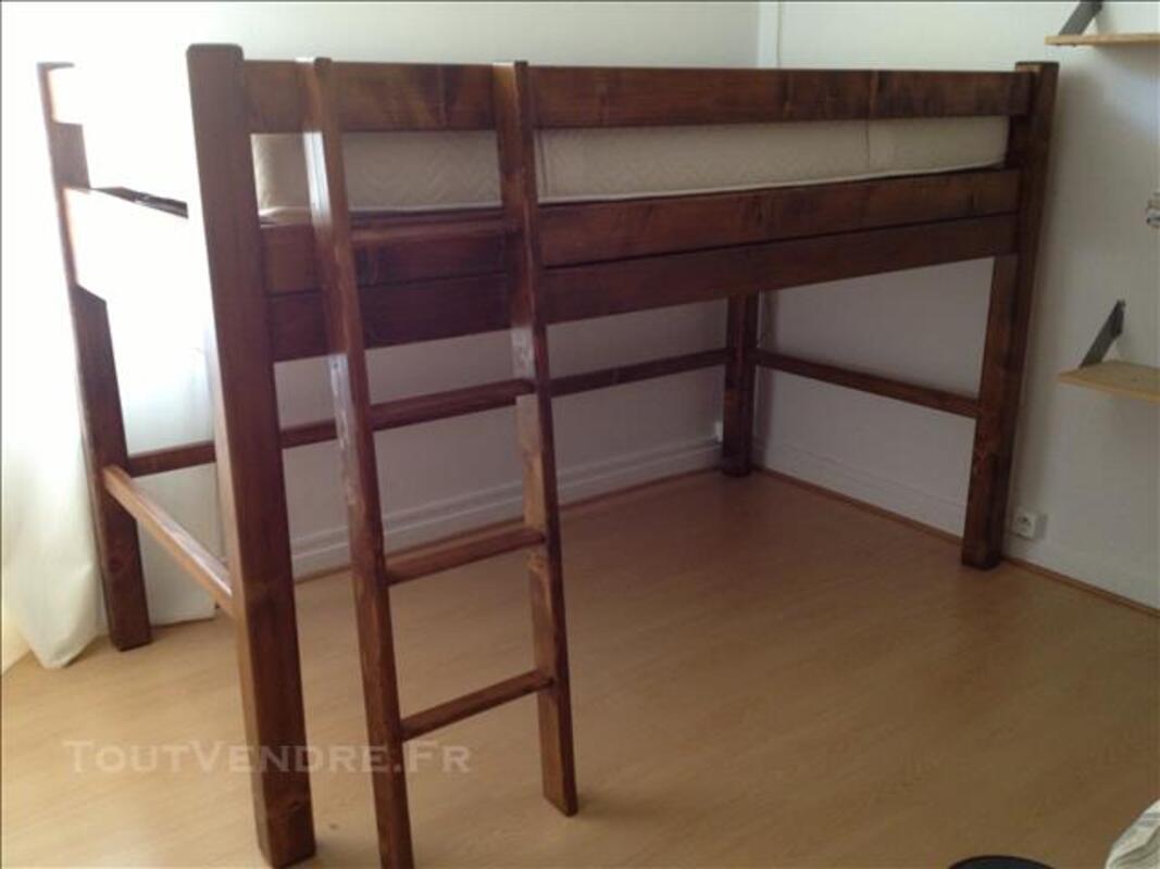 Lit mezzanine 1 place + sommier et matelas 80316670