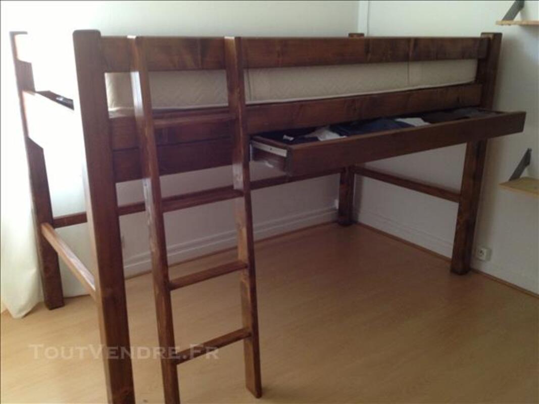 Lit mezzanine 1 place + sommier et matelas 80316678