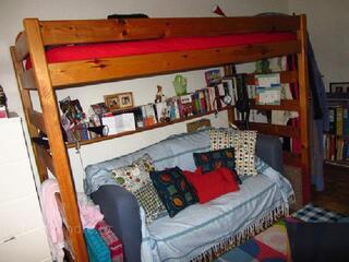 Lit mezzanine en bois massif