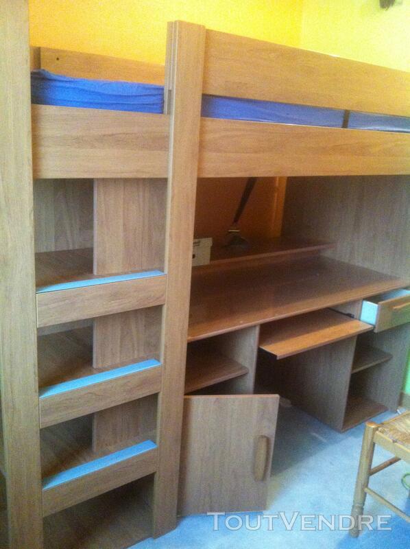 Lit Mezzanine enfant, combiné bureau, penderie 117601311