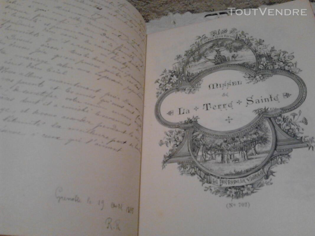 Livre Ancien Missel de La Terre Sainte ART Religion suxn 170686132