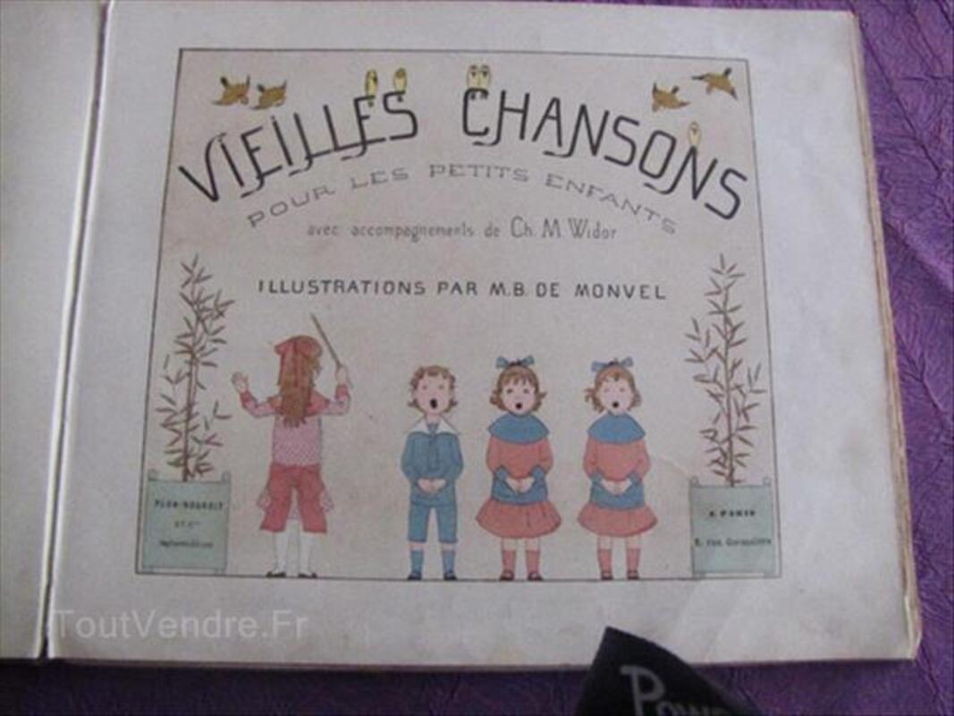 """LIVRE ANCIEN """" VIEILLES CHANSONS et RONDES """" Ed. PLON 87353808"""