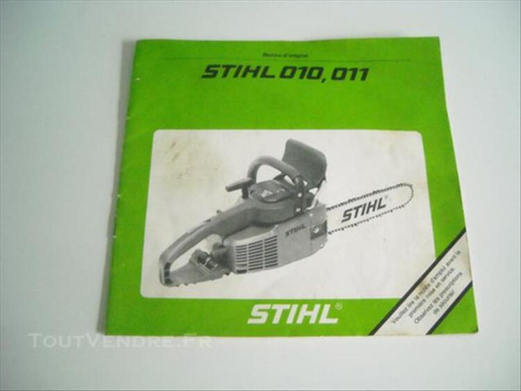 Livre entretien tronconneuse STIHL 010 et 011 86291977