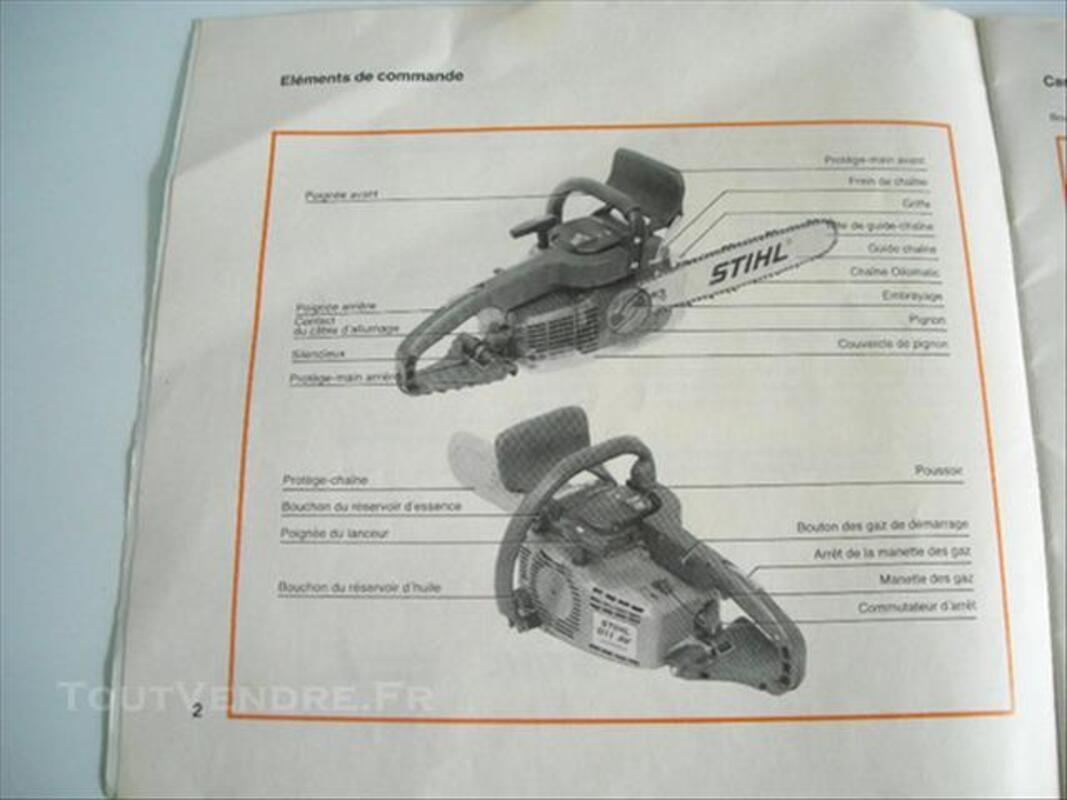 Livre entretien tronconneuse STIHL 010 et 011 86291978