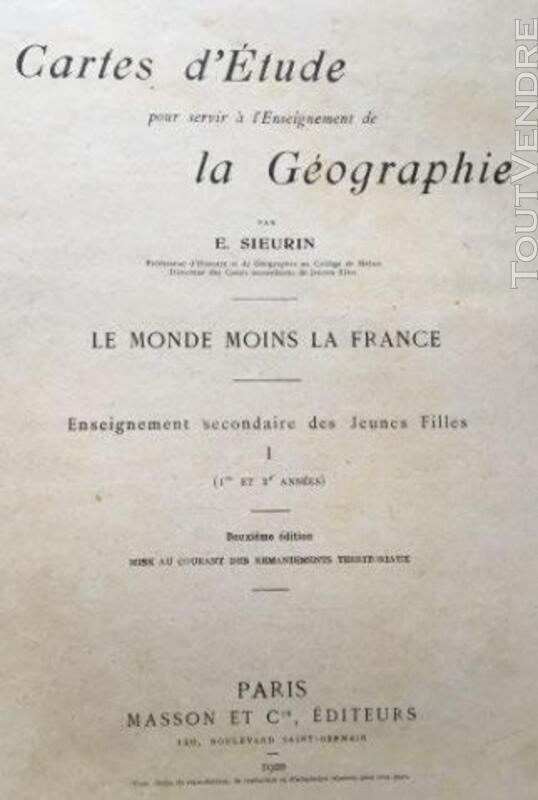 Livre scolaire de E.SIEURIN (LE MONDE)1920 383625381