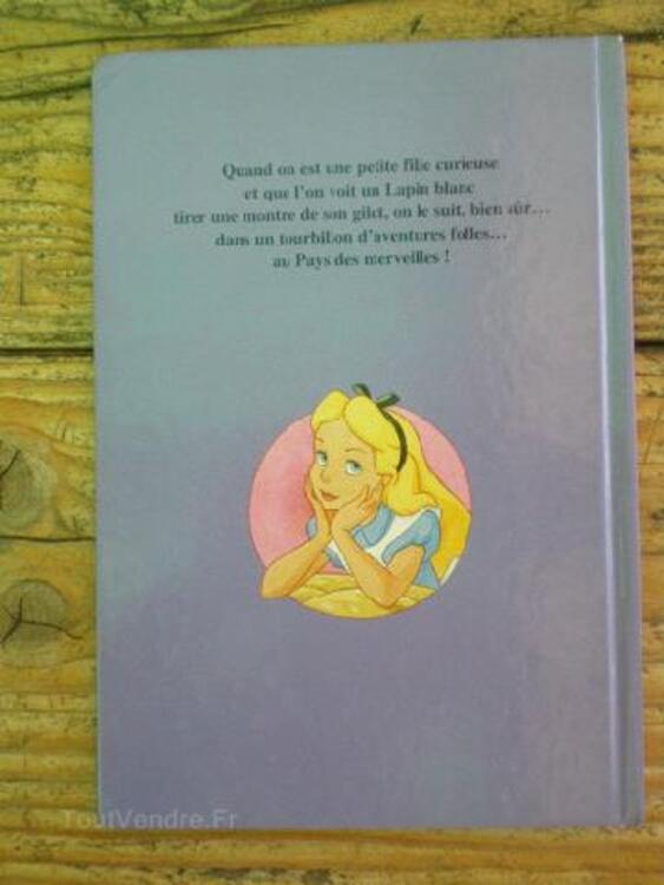 """Livre TBE Walt Disney""""Alice au pays des merveilles 89811051"""