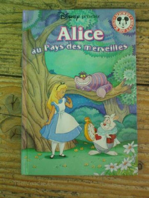 """Livre TBE Walt Disney""""Alice au pays des merveilles 89811052"""
