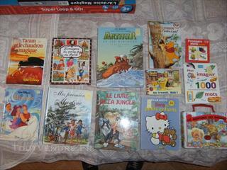Livres pour enfants (disney, martine, imagerie...)