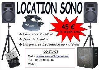 LOCATION SONO LUMIERE (+ livraison/installation)