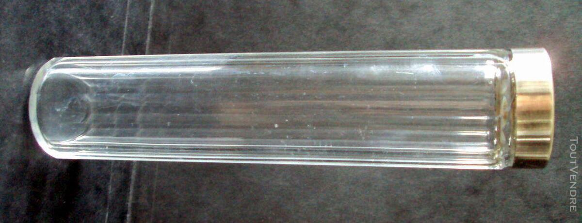 Long flacon cristal bouchon argent minerve 660967959