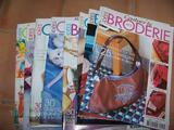 Lot 12 livres idees couture et broderie