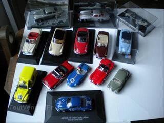 Lot 14 miniatures autos citroen peugeot alpine simca ..