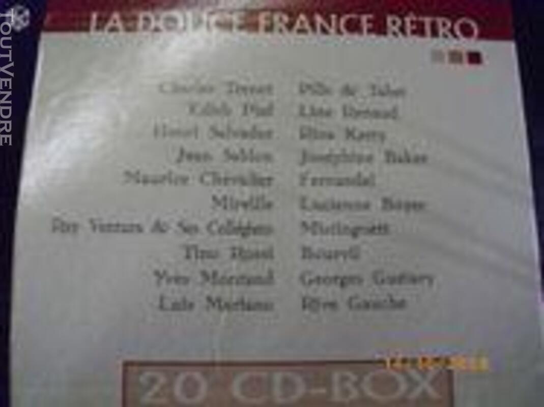 """Lot 20 CD """"La douce France Rétro"""" 315885460"""